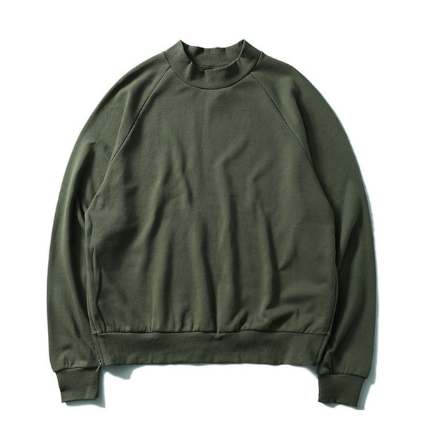 Green Side Zipper Sweatshirt