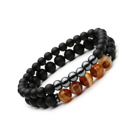 Buddha Natural Stone Bracelet Set