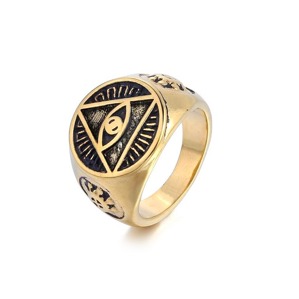 Eye Triangle Ring