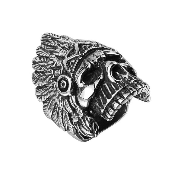 Native Skull Ring