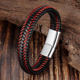 Red Thread Leather Bracelet