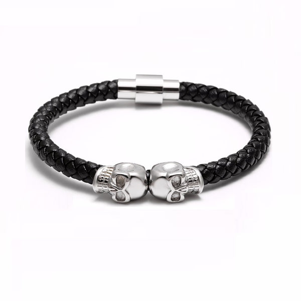 Skeleton Double Skull Bracelet