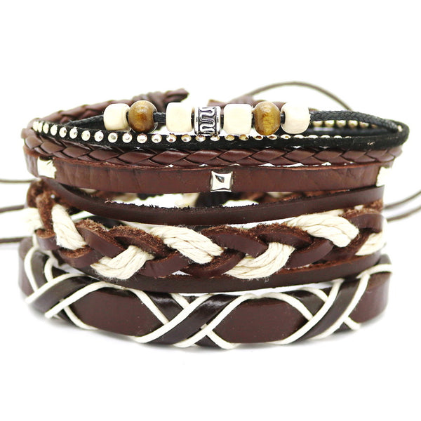 Braid Cross Bracelet Set