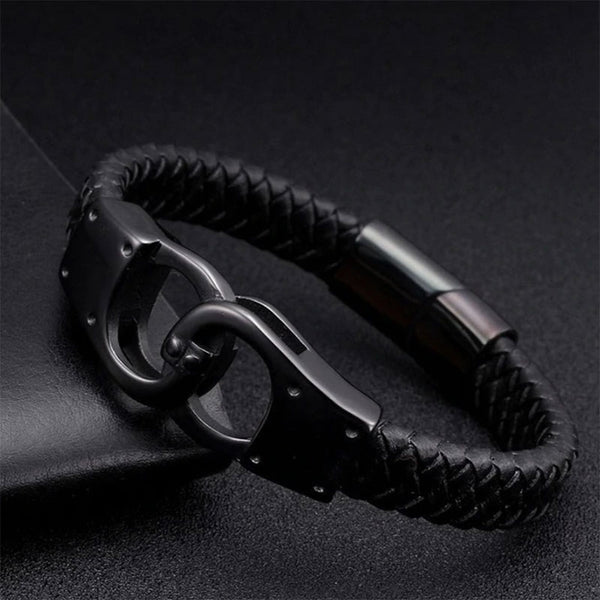 Handcuffs Leather Bracelet
