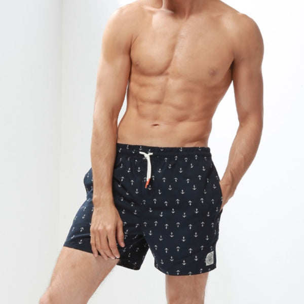 Navy Anchor Swim Trunk