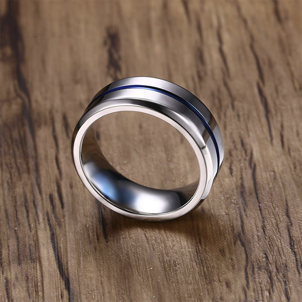 Groove Row Titanium Ring