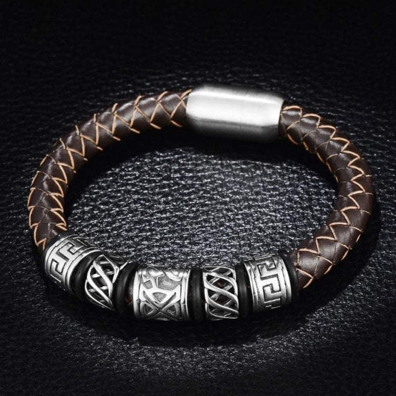 Sea Nordic Leather Bracelet