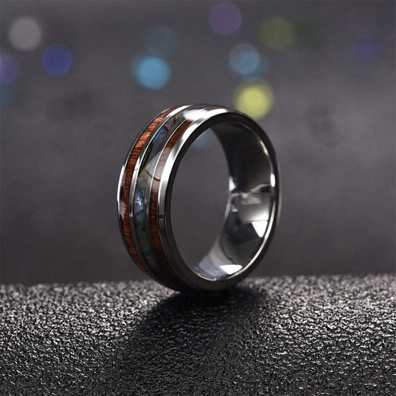 Opal Secret Titanium Ring
