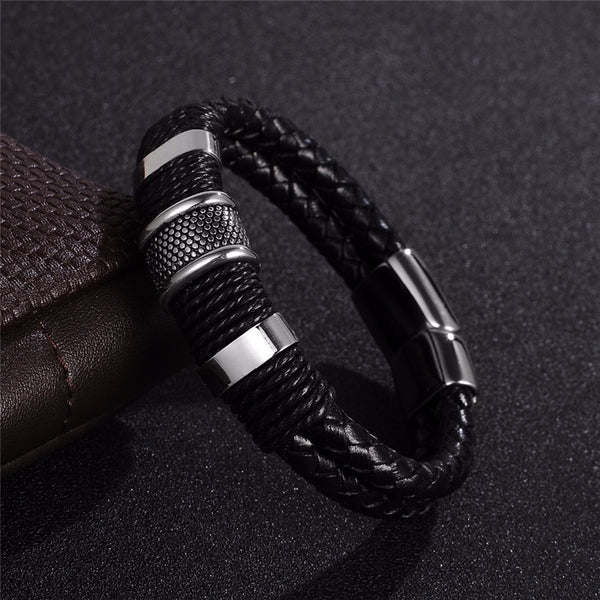 Wrapped Rope Leather Bracelet