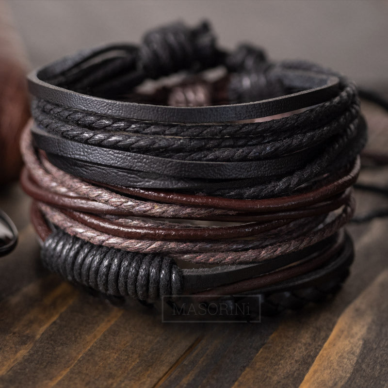 Leather Bracelet Set
