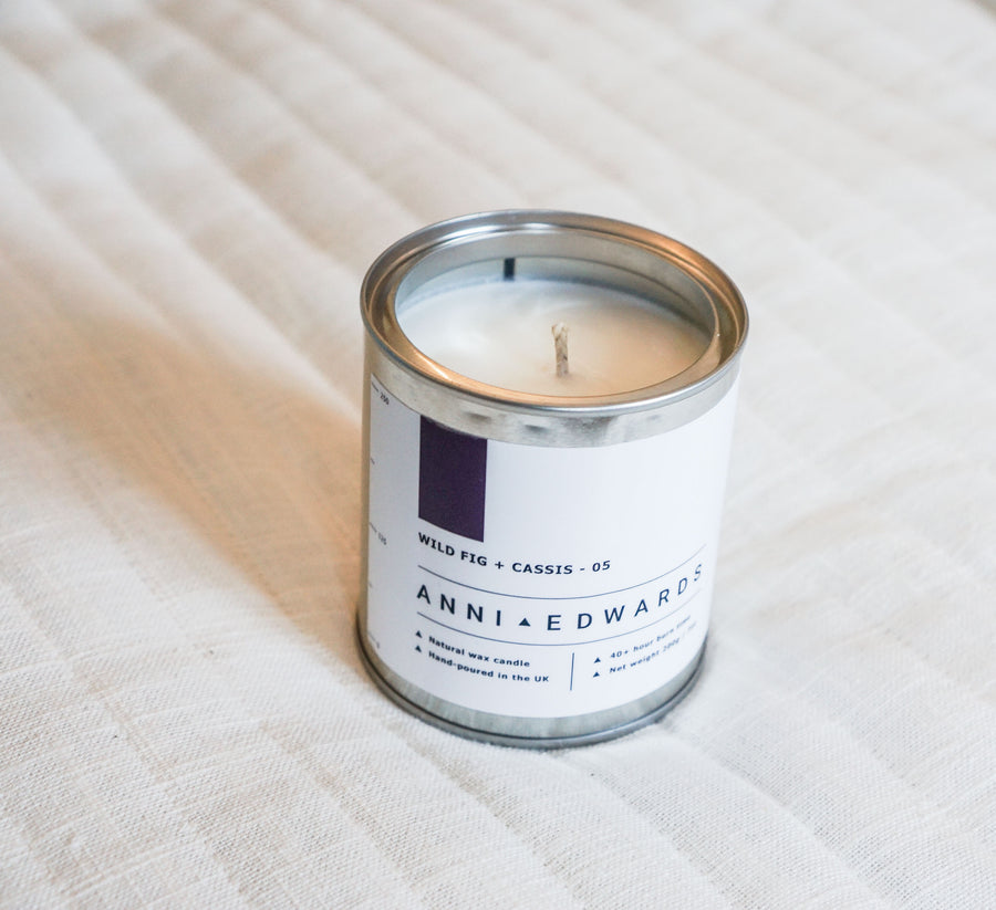 Wild Fig + Cassis - Paint Tin Candle