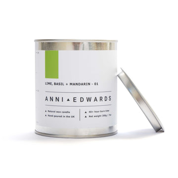 Lime, Basil + Mandarin - Paint Tin Candle