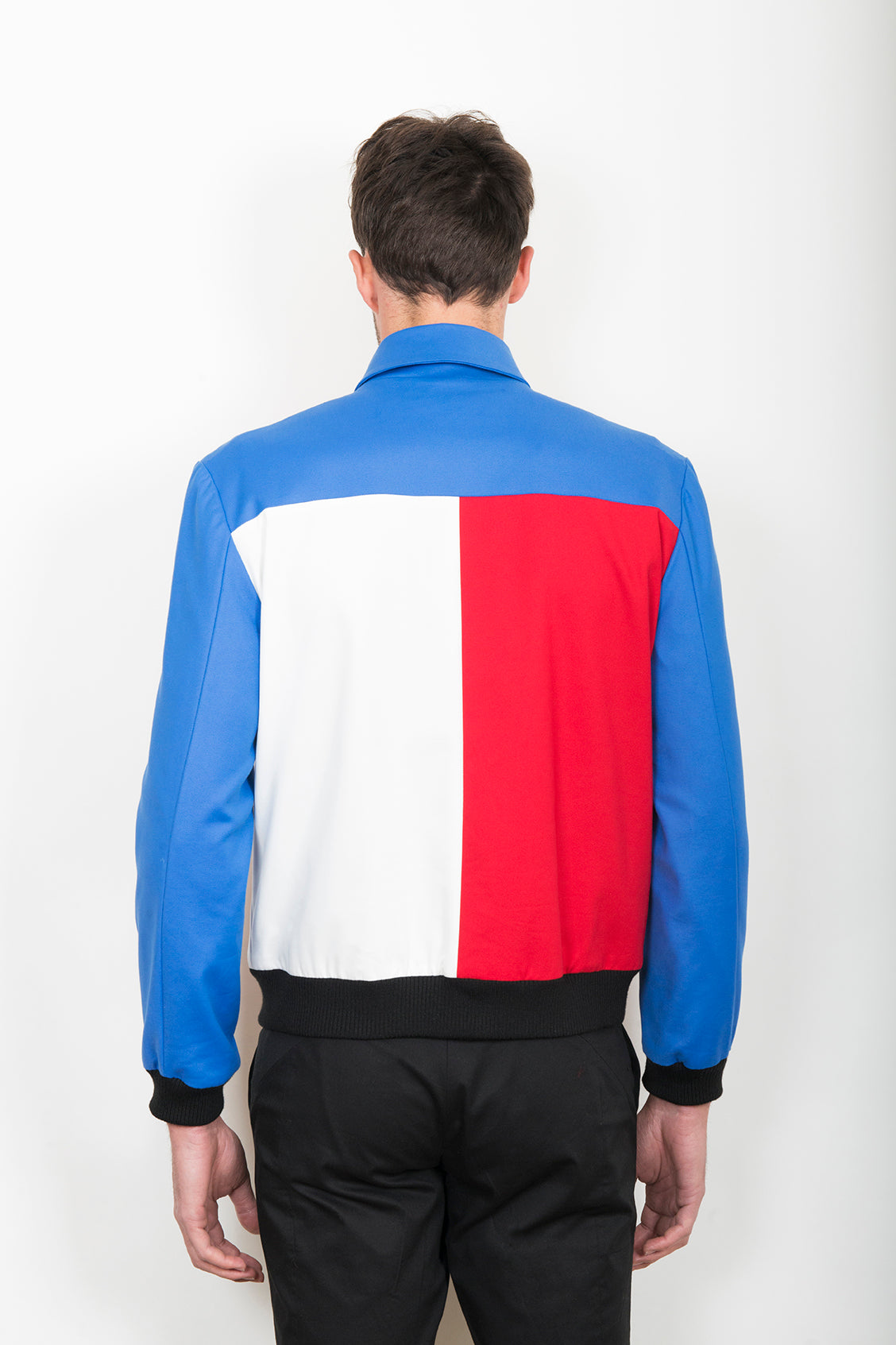 Sébastien Blondin blouson jacket été summer coton cotton tricolore tricolour créateur designer nouveau new basique basic mode fashion homme man men men's world