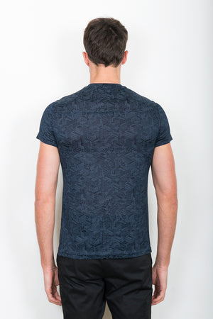 Sébastien Blondin haut top tee-shirt motifs patterns maisons home marine navy sport sportswear chic été summer coton cotton maille knitwear créateur designer nouveau new basique basic mode fashion homme man men men's world