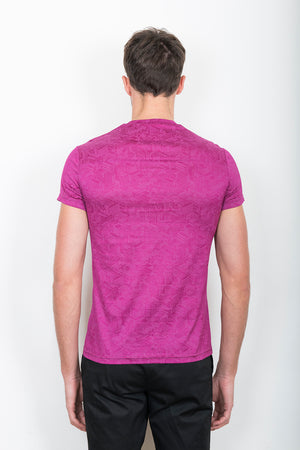 Sébastien Blondin haut top tee-shirt motifs patterns maisons home rose pink sport sportswear chic été summer coton cotton maille knitwear créateur designer nouveau new basique basic mode fashion homme man men men's world