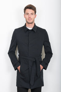 Sébastien Blondin trench coat veste jacket chic été summer coton cotton nor black créateur designer nouveau new basique basic mode fashion homme man men men's world