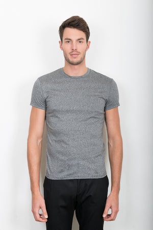 Sébastien Blondin haut top tee-shirt pinces darts dos back detail gris grey sport sportswear chic été summer coton cotton maille knitwear créateur designer nouveau new basique basic mode fashion homme man men men's world
