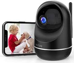 Wi-Fi Camera Victure Dual Band 2.4/5Ghz Two-Way Audio Security Camera - Black - 1080P full HD