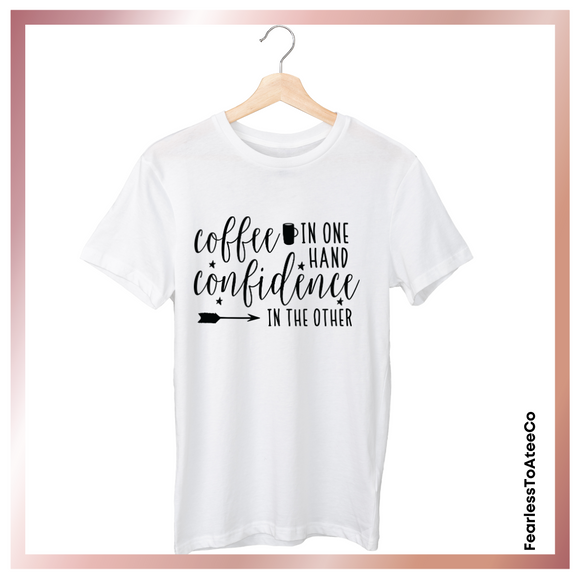 coffee-confidence-womens-t-shirt