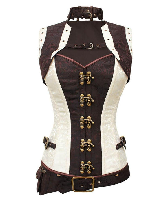 Cream Steampunk Corset - TheCorsetLady
