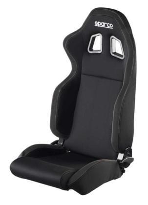 Sparco R100 Reclinable Seat - Tubular - Black - Fabric-00961NRNR - Rzcrewgarage