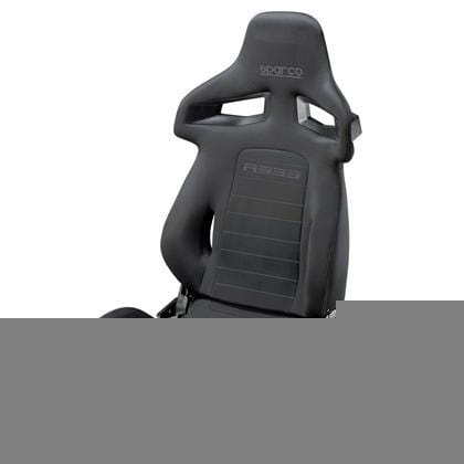 Sparco R333 Reclinable Seat - Tubular - Black,Grey - Fabric-00965NRGR - Rzcrewgarage