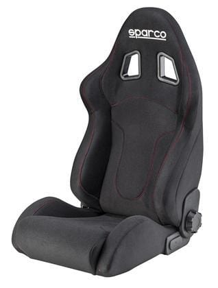 Sparco R600 Reclinable Seat - Tubular - Black - Fabric-00968NRRS - Rzcrewgarage
