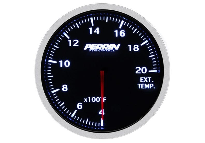 Perrin White,Red EGT Gauge - 60mm - 400-2000F-ASM-GAU-005 - RZCrewGarage