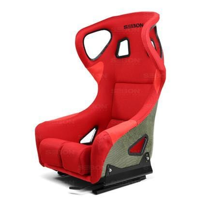 Seibon Type FC Fixed Bucket Seat - Kevlar - Red-BSEAT-K-R-FC - Rzcrewgarage