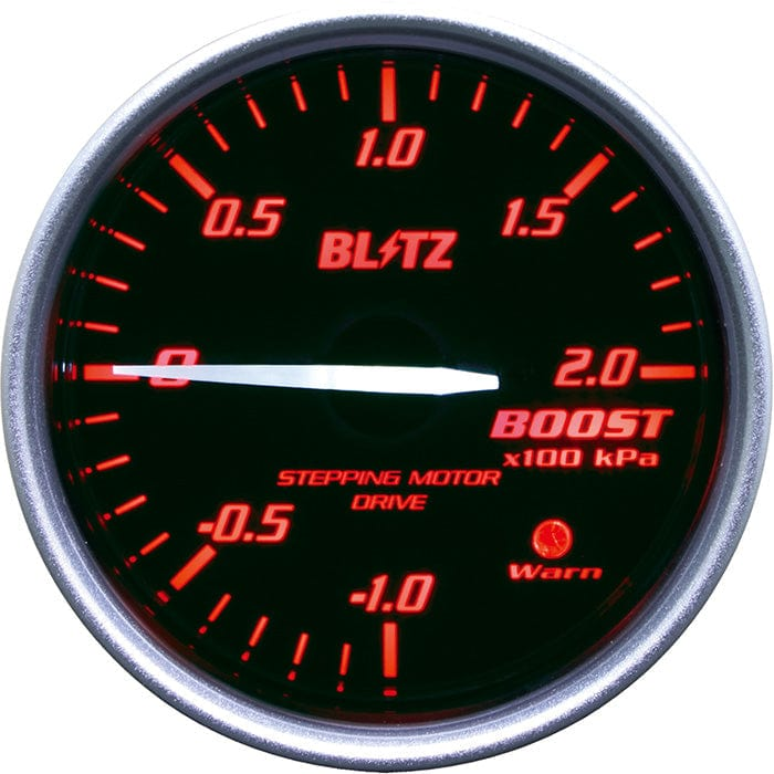 Blitz Red Boost Racing Meter SD - 60mm - 2 Bar-19581 - RZCrewGarage