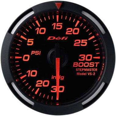 Defi Amber Racer Boost Gauge - 52mm - 30 Psi-DF06502 - Rzcrewgarage