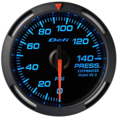 Defi Blue Racer Oil Pressure Gauge - 52mm - 0-140Psi-DF06601 - RZCrewGarage