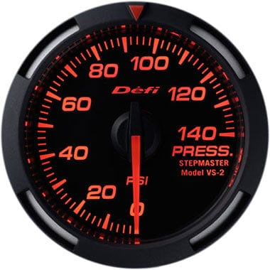 Defi Amber Racer Oil Pressure Gauge - 52mm - 0-140Psi-DF06602 - RZCrewGarage