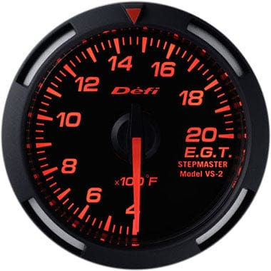Defi Amber Racer Exhaust Gas Temperature Gauge - 52mm - 400-2000F-DF06802 - RZCrewGarage