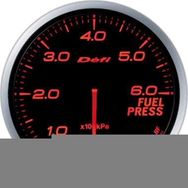 Defi Amber Advance BF Fuel Pressure Gauge - 60mm - 6 Bar - [variant sku] - RZCrewGarage