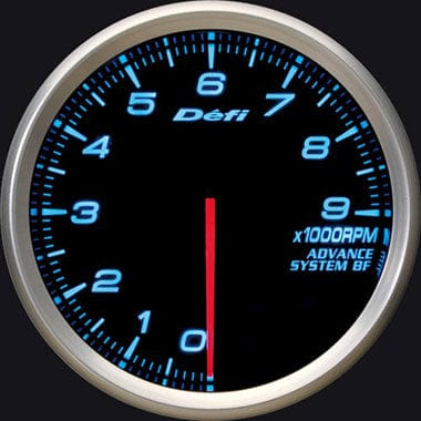Defi Blue Advance BF RPM Gauge - 80mm - 9000 Rpm-DF10903 - RZCrewGarage