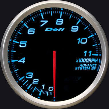 Defi Blue Advance BF RPM Gauge - 80mm - 11000 Rpm-DF11003 - RZCrewGarage