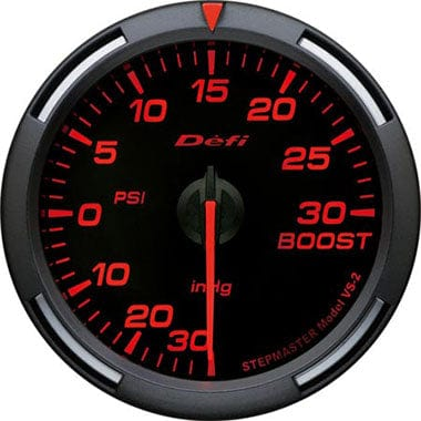 Defi Amber Racer Boost Gauge - 60mm - 30 Psi-DF11502 - Rzcrewgarage