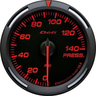 Defi Amber Racer Oil Pressure Gauge - 60mm - 0-140Psi-DF11602 - RZCrewGarage
