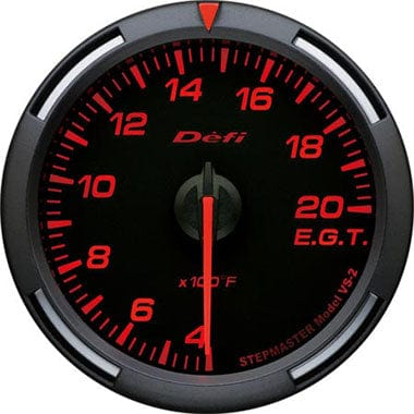 Defi Amber Racer Exhaust Gas Temperature Gauge - 60mm - 400-2000F-DF11802 - RZCrewGarage