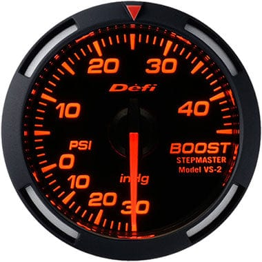 Defi Amber Racer Boost Gauge - 52mm - 45 Psi-DF14602 - Rzcrewgarage