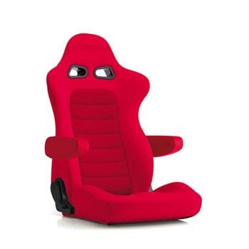 Bride Euroster II Cruz Reclinable Seat - Frp - Red-E54BBN - Rzcrewgarage