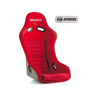 Bride Vios III Fixed Bucket Seat - Carbon Aramid - Red-F42IMR - Rzcrewgarage