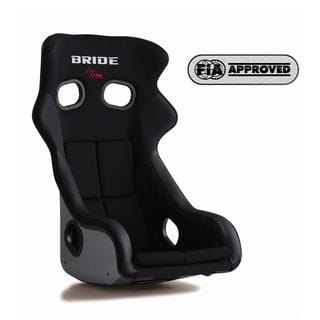 Bride Xero CS Fixed Bucket Seat - Frp - Black-H02AMF - Rzcrewgarage
