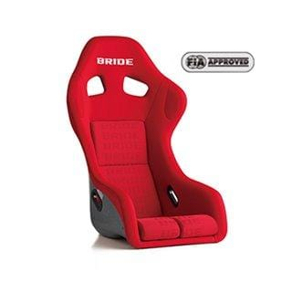 Bride Zeta III Plus Fixed Bucket Seat - Frp - Red Graduation-H31IMF - Rzcrewgarage