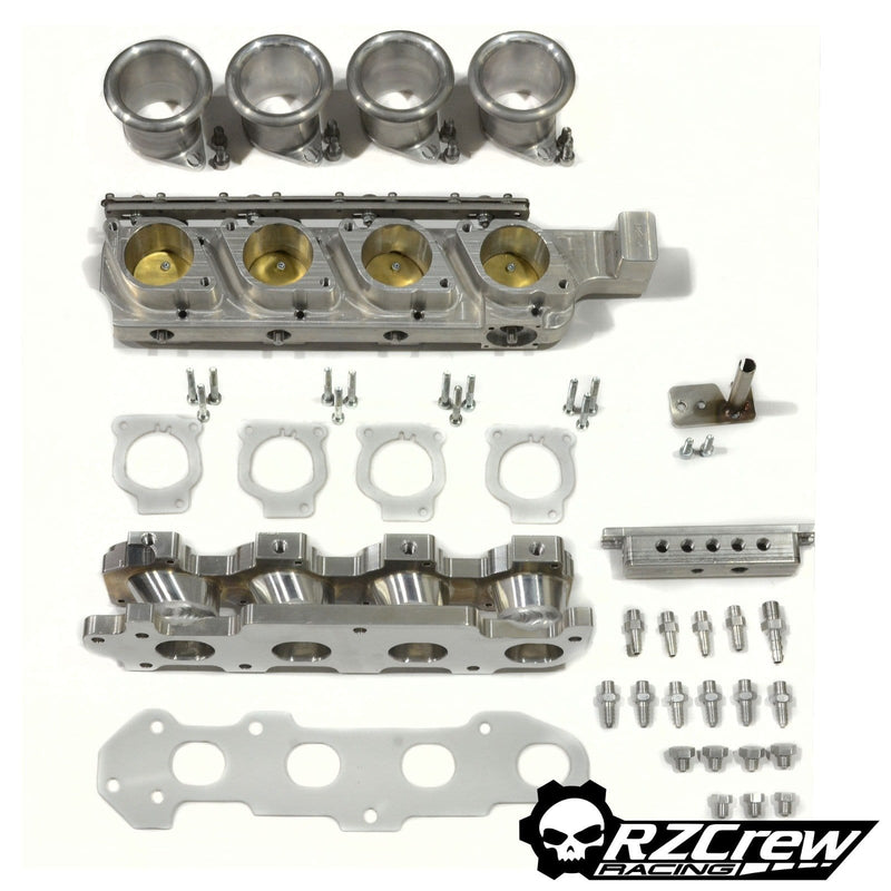 Rzcrew Garage  Billet Individual Throttle Bodies kit - Honda - K20A/K20Z - Cable Throttle Body