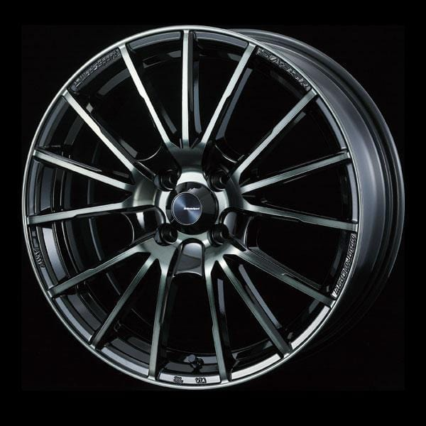 WedsSport SA-35R - 15x5J - 4x100 - ET: 45 (Worth Black Clear) - 4x100 - SA-35R-155410045-WBC