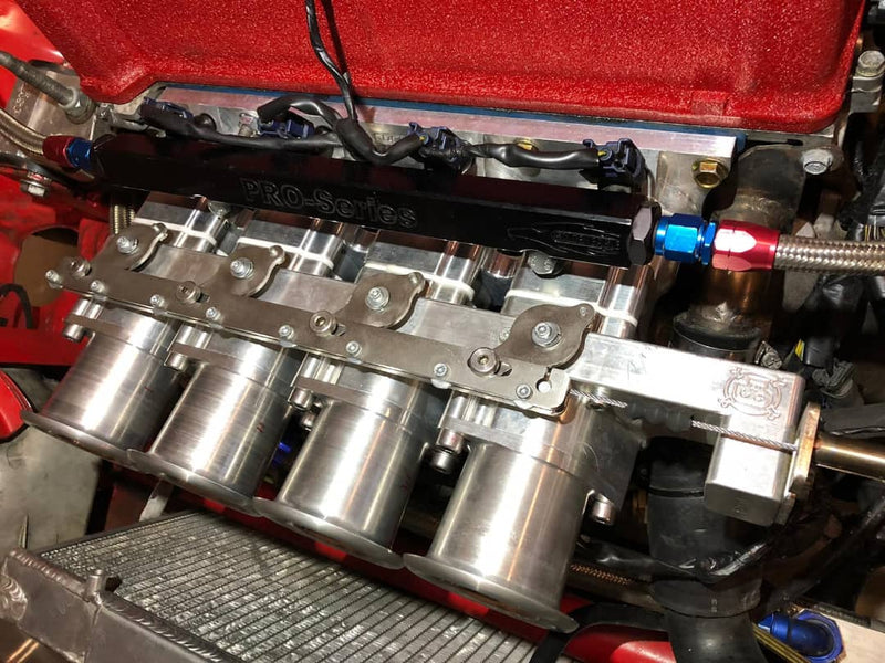 Rzcrew Racing  Billet Individual Throttle Bodies kit - Honda - Fit-Jazz GD1/GD2/GD3/GD4