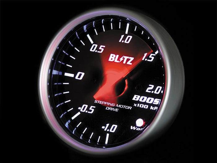 Blitz White Boost Racing Meter SD - 60mm - 2 Bar-19561 - Rzcrewgarage