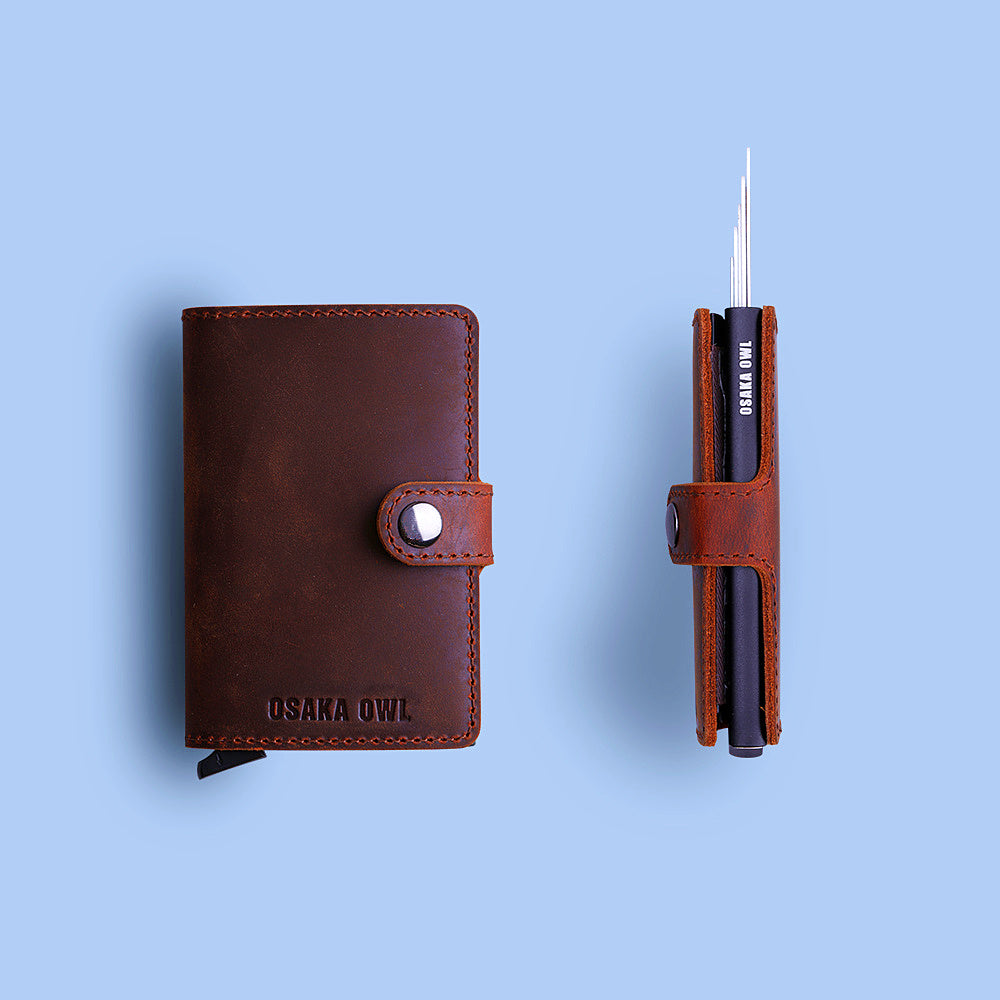Genuine Leather Minimalist Card Wallet